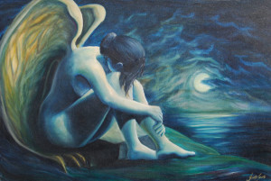 Jarville Oil Painting of Fallen Angel
