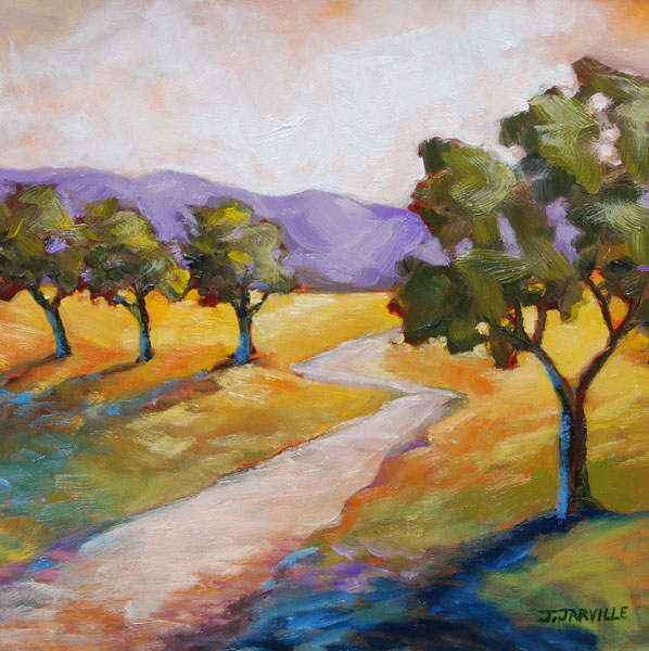 Jarville oil painting Olive Grove 2